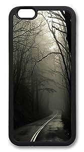iphone 6 4.7inch Case Dark Road Forest TPU Custom iphone 6 4.7inch Case Cover Black