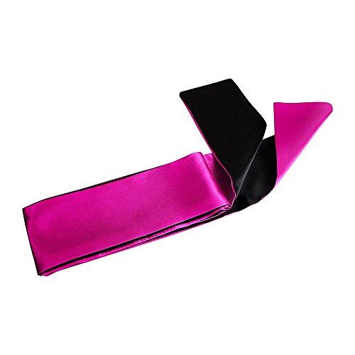 "Blindfold for games 5 pack; Satin Blindfold Sleep Mask handcuffs set super Soft & Comfortable for sleeping; Best Eye Cover Night Blinder block light for Women Men-59"" by KUCEMO (Image #7)"