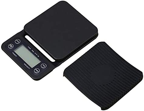 PRWJH Electronic Digital Coffee Drip Scale, with Backlight with Timer Kitchen Scale, 5Kg/1G