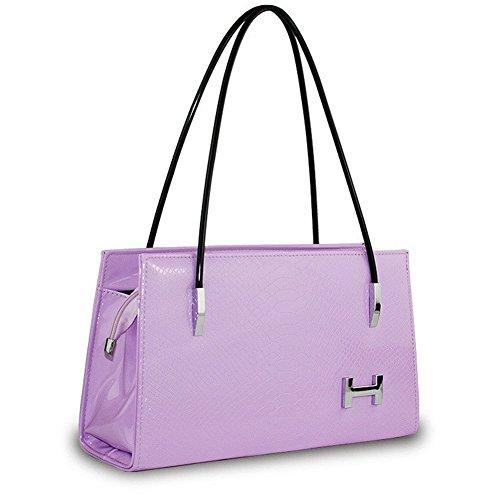 NEW JJ lettres mode croix corps sac à bandoulière femmes PU Sac à main violet