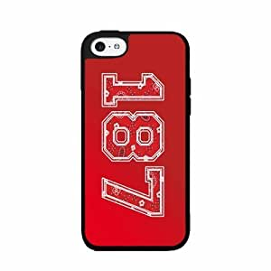 187 Red Paisley Background- Plastic Phone Case Back Cover iPhone 5 5s