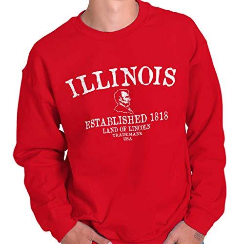 Illinois State - Trademark Printed Crewneck Sweatshirt - ()