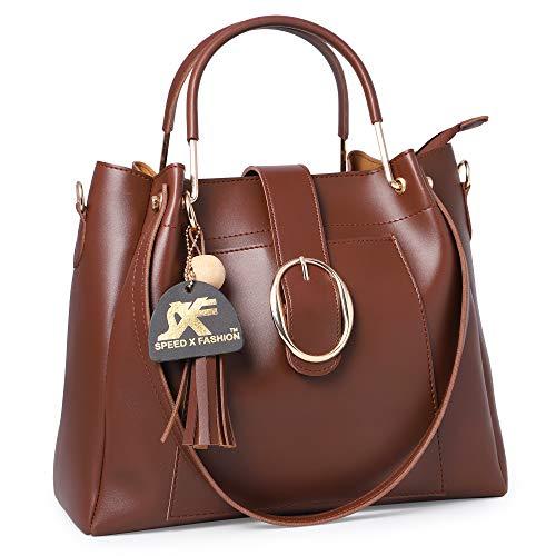 Speed X Fashion Women's Brown Hand Held Bag (Combo)