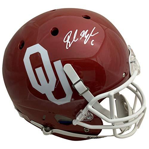 Oklahoma Sooners Collectibles - Baker Mayfield Autographed Oklahoma Sooners Signed Football Full Size Helmet PSA DNA COA