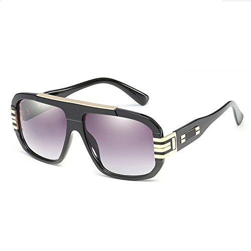 marco diseñador sol Gafas de cuadradas de para estilo Gafas retro UV400 mujeres diseñador hombres Oro Gris de grande gran tamaño retro de de zIa45nq