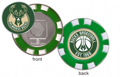 Milwaukee Bucks Poker Chip Marker (with removable ball marker) by WinCraft