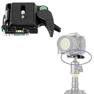 "Camera Aluminum Quick Release Plate,KINGJOY BB-20 Aluminum Quick Release Plate QR Plate Adapter 1/4"" and 3/8"" Screws for DSLR Camera Camcorder Tripod Monopod Ball Head"