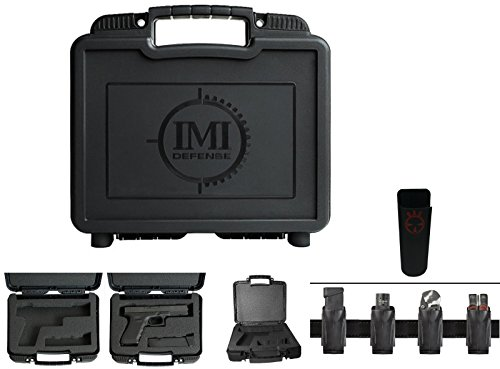 Kydex Magazine Case (IMI Defense ZPCFS Reinforced Lightweight Secure Pistol & Magazine MAG Carry Protective Case , Black Fits Springfield Armory XD XDS XDM Pistols + Ultimate Arms Gear Mag Belt Clip Pouch Holder)