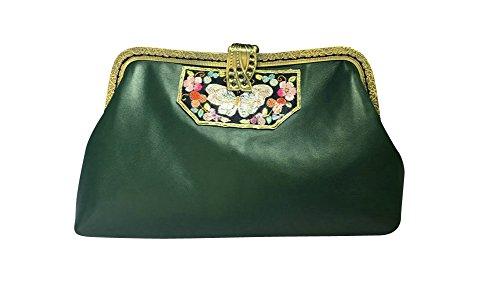 Estilo Oscuro A Verde Originales Mujer 201 Clutch Regalos Mano Retro Monederos China Bolsa Interact Nuevo F6qwxp68v