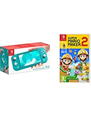 Nintendo Switch Lite - Turquoise + Super Mario Maker 2 Standard Edition