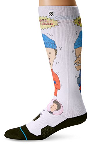 Stance Men's Yellow Snow Crew Socks, Black, Sock Size:10 13/Shoe Size: 6 12