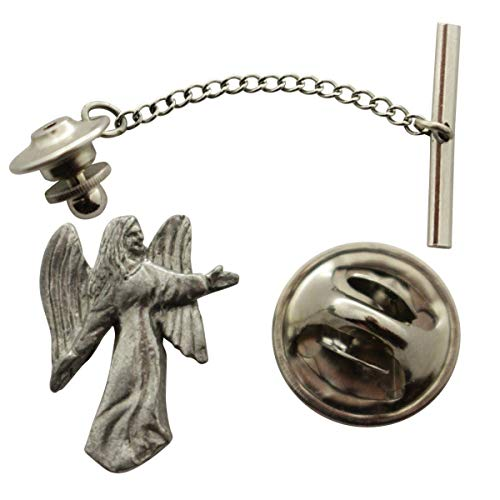 Sarah's Treats & Treasures Angel Tie Tack ~ Antiqued Pewter ~ Tie Tack or Pin