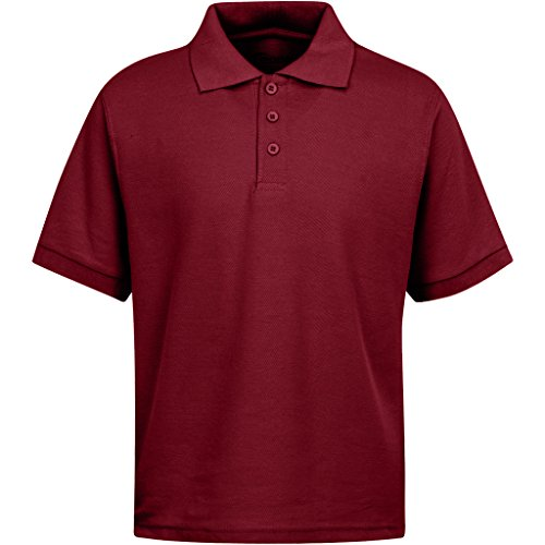 (Boys Uniform Polo Shirt Burgundy S 7/8)