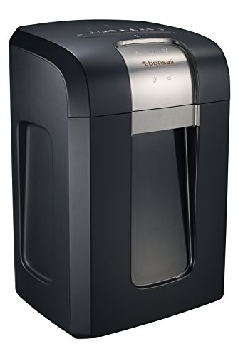 Bonsaii EverShred Pro 3S30 18-Sheet Cross-Cut Heavy Duty Shredder with 240 Minutes Running Time, 7.9 Gallons Pullout Wastebasket and 4 Casters, Black by Bonsaii