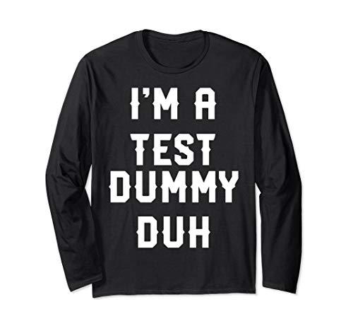 Halloween Easy Test Dummy Costume Long Sleeve Shirt -