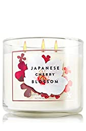 Bath & Body Works 3 Wick 14.5 Ounce Candle Japanese Cherry Blossom
