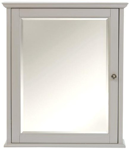 Hamilton Mirrored Cabinet, 27″Hx23.5″W, GREY