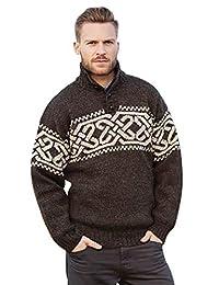 Aran Woollen Mills Traditional Celtic Men Worsted Wool Sweater