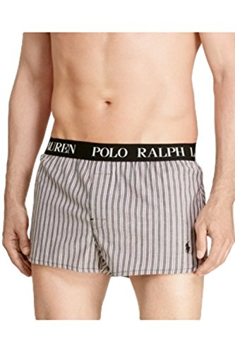 Polo Ralph Lauren Mens Striped Slim Fit Boxers Black - Lauren Ralph Polo Online Outlet