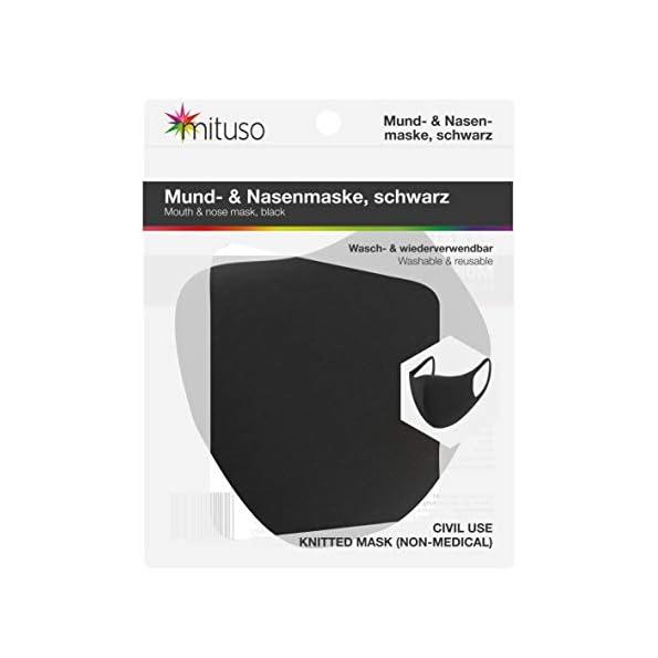 mituso-Mund-und-Nasenmaske-aus-Polyester-Wiederverwendbare-Maske-10-Stck-schwarz