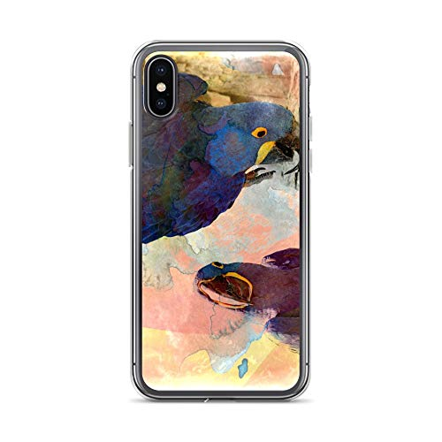 iPhone X/XS Case Anti-Scratch Creature Animal Transparent Cases Cover Its All in How You Look at It Animals Fauna Crystal Clear -