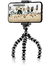 Mini Octopus reisstatief flexibel statief met mobiele telefoon houder voor iPhone, Android Phone en GoPro