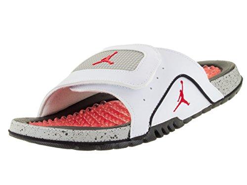 Nike Mens Jordanien Hydro Iv Retro Vit / Brand Röd / Svart / Tech Grå Sandal 14 Män Oss
