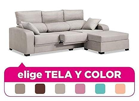 Mueble Sofa con Chaise Longue, tapizado al Gusto, 3 plazas ...