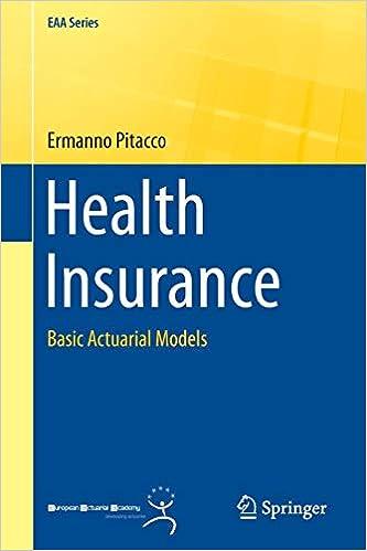 Health Insurance: Basic Actuarial Models (EAA Series