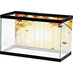 SLLART Fish Tank Poster Fall Decorations,Soft Image of Faded Shedding Fall Leaves from Tree Motion in Nature Concept,Multi Paper Poster