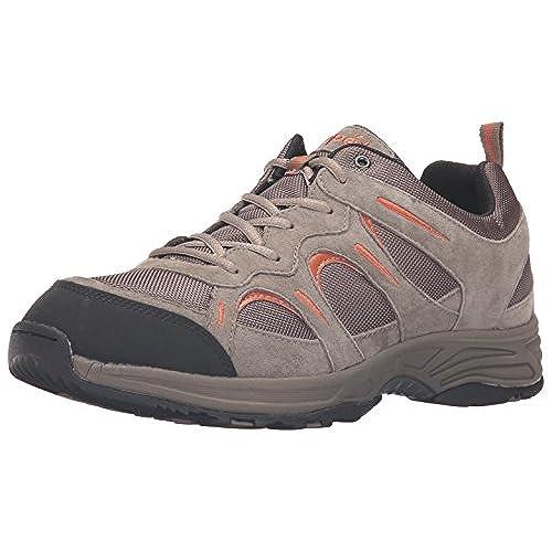 Propet Men's Connelly Walking Shoe, Gunsmoke/Orange, 10 M US