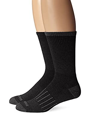 Men's 2 Pack Work To Casual Stripe Assortment Crew Socks