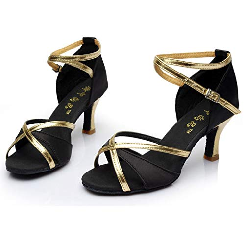 Da scarpa Scarpe Nero Ballo Con A Medio Vovotrade Alto Latino Per Pantofole Aperta Punta Ragazza Tacco nIdg44qt