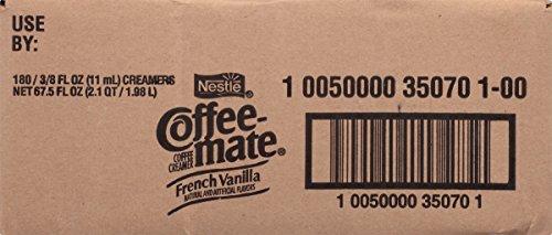 050000350704 - NESTLE COFFEE-MATE Coffee Creamer, French Vanilla, liquid creamer singles, Pack of 180 carousel main 5
