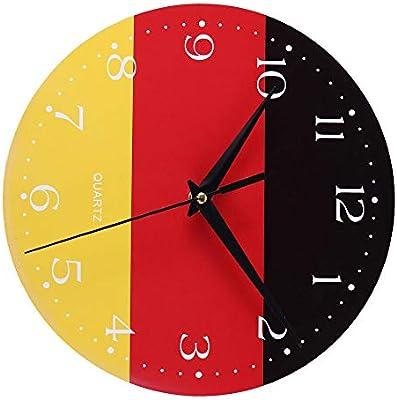 HCFKJ - Reloj de Pared de Madera Antigua, Estilo Creativo, para la Cocina Principal, E 72012, 30 x 30 cm: Amazon.es: Juguetes y juegos