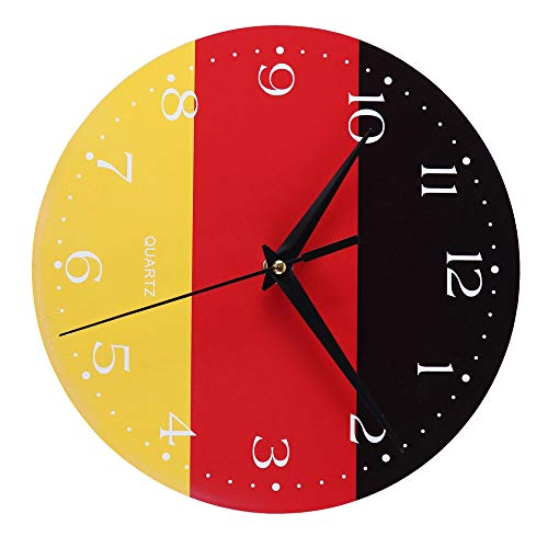 Yamart Creative Style Non-Ticking Silent Antique Wood Wall Clock for Home Garden Kitchen Accessories Clocks Alarm Clocks Electronic Clocks