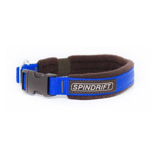 "Spindrift 140 Fleece Lined Cozy Dog Collar - Large (3/4"" x 19-23""), Blue"