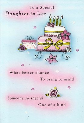 Second Nature Daughter In Law Birthday Cards Poetry Motion Greeting Card