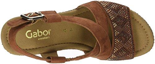 Gabor Ladies Comfort Sport Sandali Con Cinturino Marrone (whisky (juta))