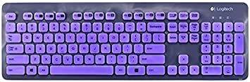 Ultra Thin Silicone Laptop Keyboard Cover Skin Protector for Logitech K310 Keyboard White Leze
