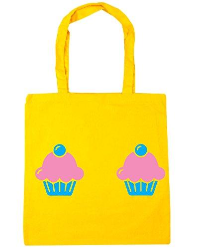 HippoWarehouse - Bolsa de playa de Algodón  Mujer amarillo