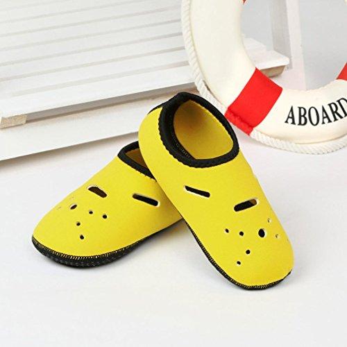 Knöchelstrümpfe Elastic Zehe Atmungsaktiv Diving Flexible Byste Outdoor Runde Erwachsene Kinder Gelb 0tW5aqnc