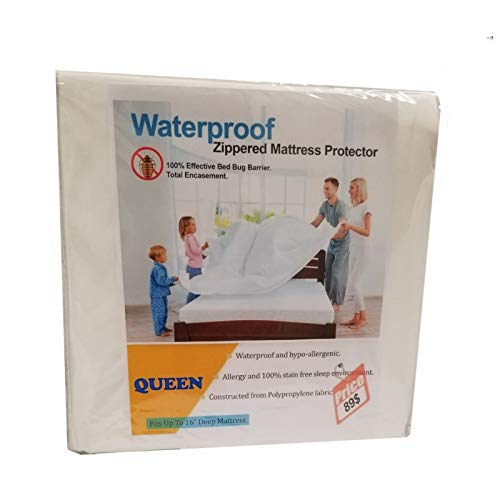 SPICA HOME Bed Bug Proof,100% Waterproof & Zippered Mattress Protector,Dust Mite Proof, 10 Year Warranty, 14 Inch Deep Pocket (Queen)
