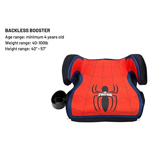 41OMGnJPJRL - KidsEmbrace High-Back Booster Car Seat, Marvel Spider-Man