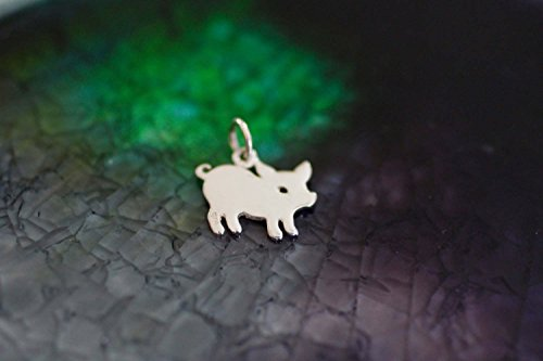Sterling Silver Mini Piggy Charm