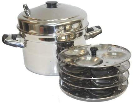 Tabakh DC-203 3-Plate Stainless Steel Dhokla Stand with Cooker Small Silver