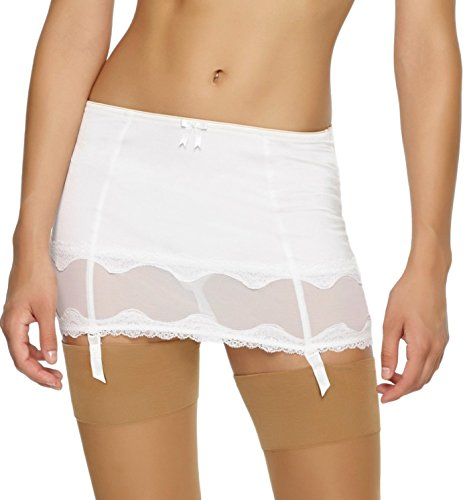 Jezebel Women's Darlie Garter Slip, Antique Ivory, ()