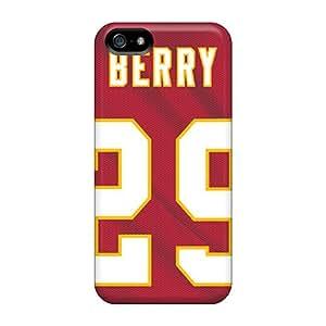 Awesome BYK1725SVsg Jamesler Defender Tpu Hard Case Cover For Iphone 5/5s- Kansas City Chiefs