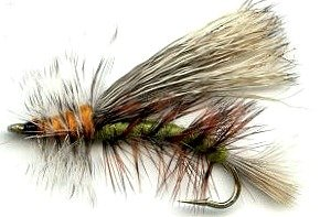 Stimulator Olive - Fly Fishing Trout Flies - Stimulator Olive/Green Dry Fly - Hand Tied Attractor/Prospecting for Trout and Freshwater Fish - 4 Size Assortment 12,14,16,18 - One Dozen (3 of each size)