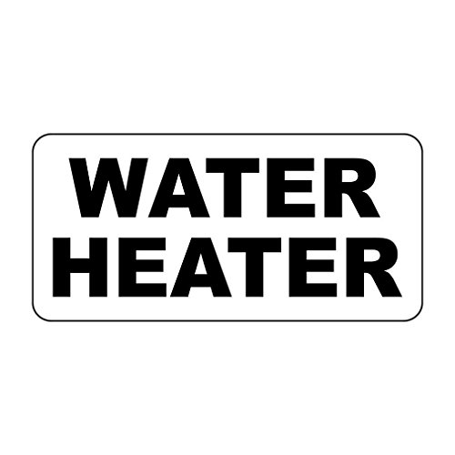 Water Heater Black Retro Vintage Style Sign with HolesVinyl Sticker Decal 8